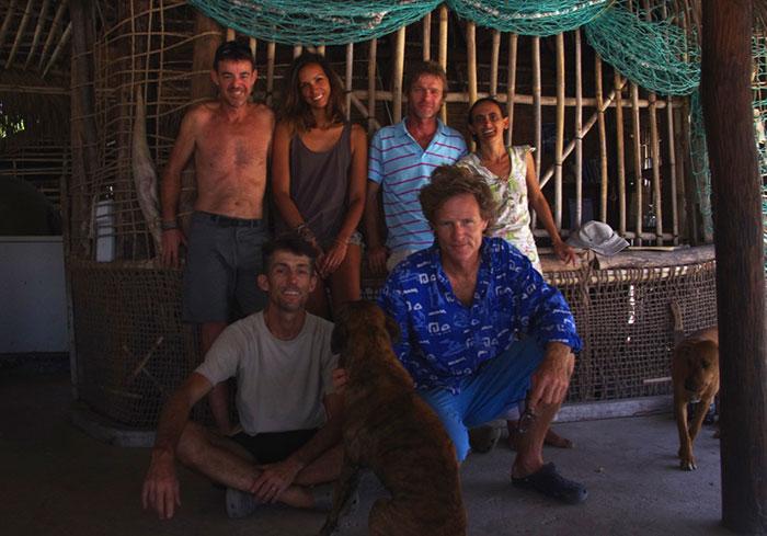 Quentin , Laurent , Flor y James , Ibo , (Mozambique )